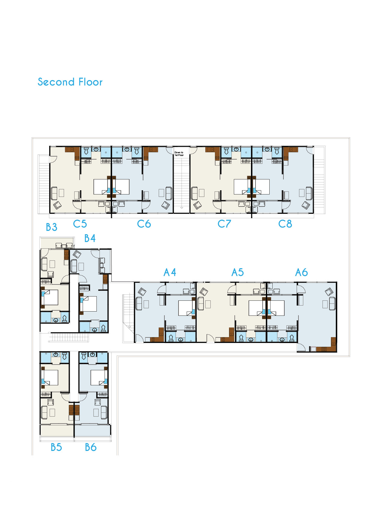 hotel floor plan coast boutique apartments